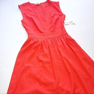 Maison Jules Rave Red Orange  Bora Bora Dress XXS
